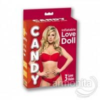 Candy Love Doll 3 İşlevli Sarışın Şişme Manken