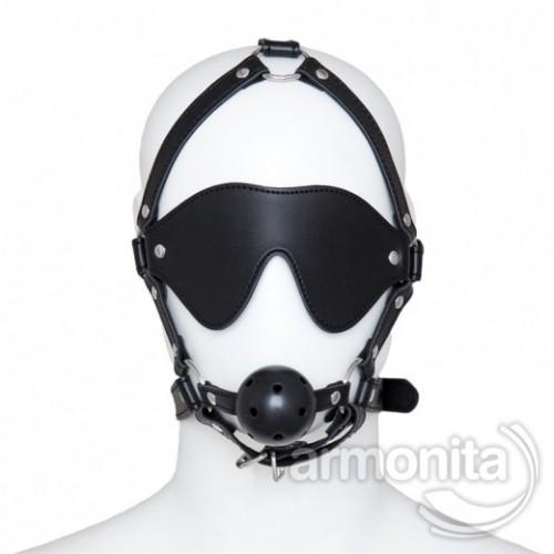 Fetiş Ağız Tıkacı Göz Maskeli  Set