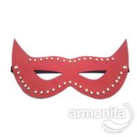 Kırmızı Taşlı Deri Göz Maskesi